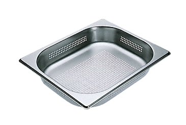 DGGL 4 - Perforated steam cooking containers For blanching or cooking vegetables, fish, meat and potatoes and much more--Stainless steel