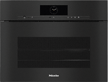 DGC 7845X - Handleless XL Combination steam oven with mains water and drain connection for steam cooking, baking, roasting with wireless food probe + menu cooking.--Obsidian black