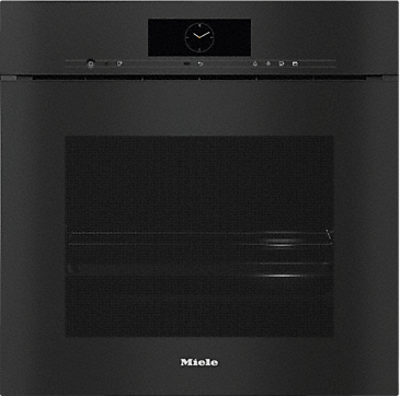 DGC 7865X - Handleless XXL Combination steam oven with mains water and drain connection for steam cooking, baking, roasting with wireless food probe + menu cooking.--Obsidian black