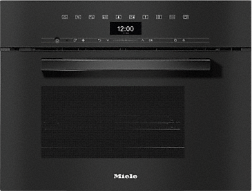 DGM 7440 - Steam oven with microwave for healthy cooking and rapid heating-up with networking.--Obsidian black
