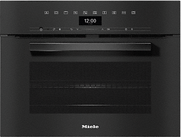 H 7440 BM - Compact microwave combination oven with a seamless design, automatic programmes and combination modes.--Obsidian black