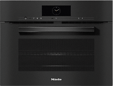 H 7840 BM - Compact microwave combination oven with a seamless design, automatic programmes and food probe--Obsidian black