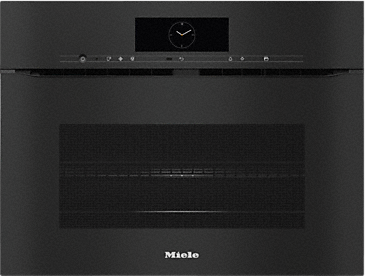 H 7840 BMX - Handleless microwave combination oven with a seamless design, automatic programmes and food probe--Obsidian black